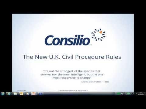 Consilio Webinar - The New U.K. Civil Procedure Rule 31.5