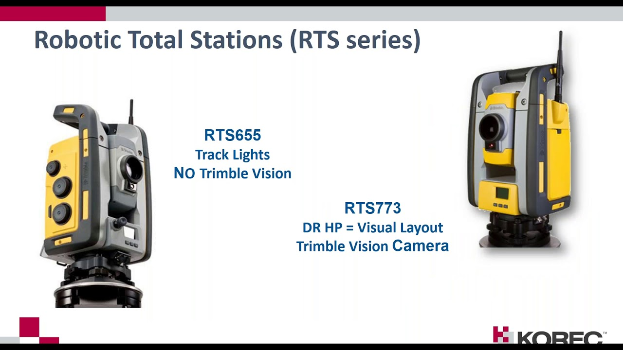 Trimble RTS Robotic Total Stations, Field Link and Connect