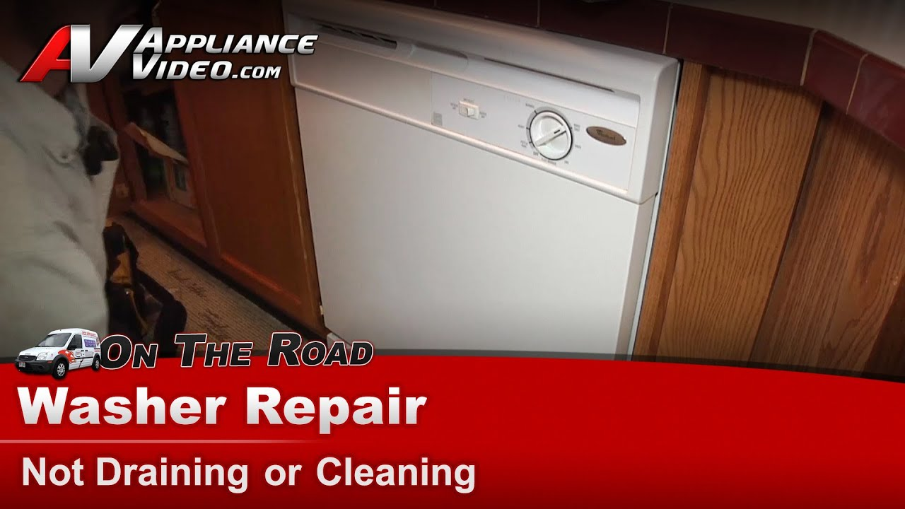 dishwasher repair not filling or cleaning dishes whirlpool maytag sears du810swpq3 [ 1280 x 720 Pixel ]