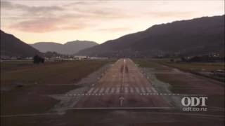 Night landing at Queenstown Airport thumbnail