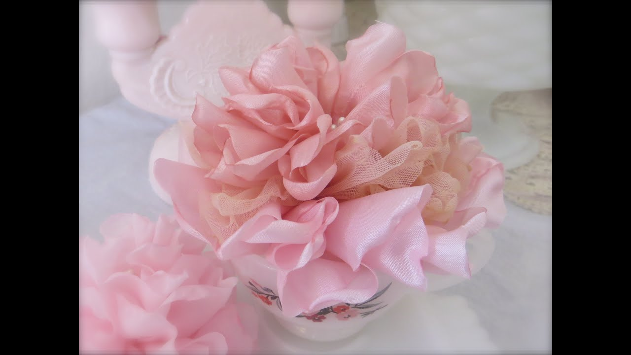 Beautiful and Easy Singed Melted Fabric Flower Tutorial ViYoutube