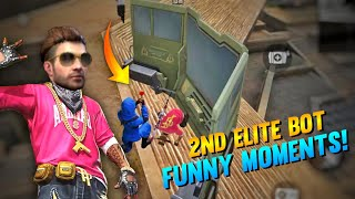 2nd elite bot funny moments in free fire || Top criminal Vs 2nd elite   attacking || parthi gaming