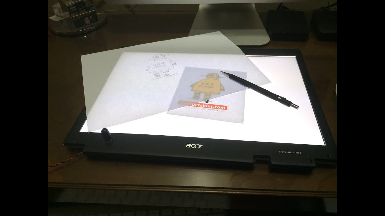 turn a broken laptop screen into a portable light table for drawing youtube. Black Bedroom Furniture Sets. Home Design Ideas