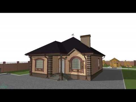 Интересный  проект небольшого одноэтажного дома  B-063-ТП