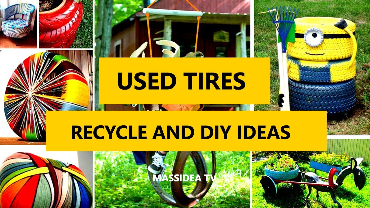 45 Recycle Used Tires Diy Ideas For Garden House 2017 Youtube
