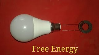 Free Energy Light bulb Use Magnets  Copper wire