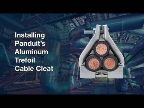 Panduit Cable Cleats For Short Circuit Protection - Aluminum Trefoil Cable Cleats