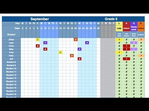 Attendance Spreadsheet - YouTube