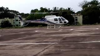 helicopter landing in ntpc ramagundam