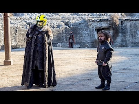 Will Aaron Rodgers really be on Sunday's 'Game of Thrones'? Hints are coming.