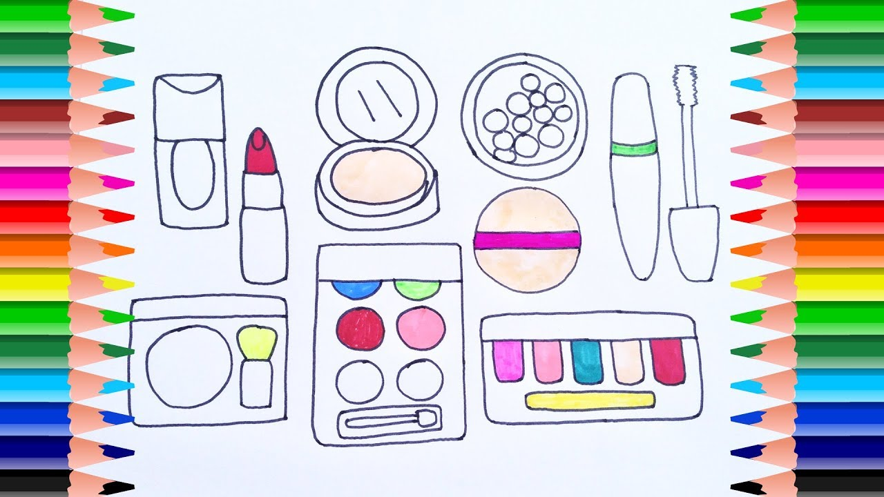 Coloring Pages Cosmetics