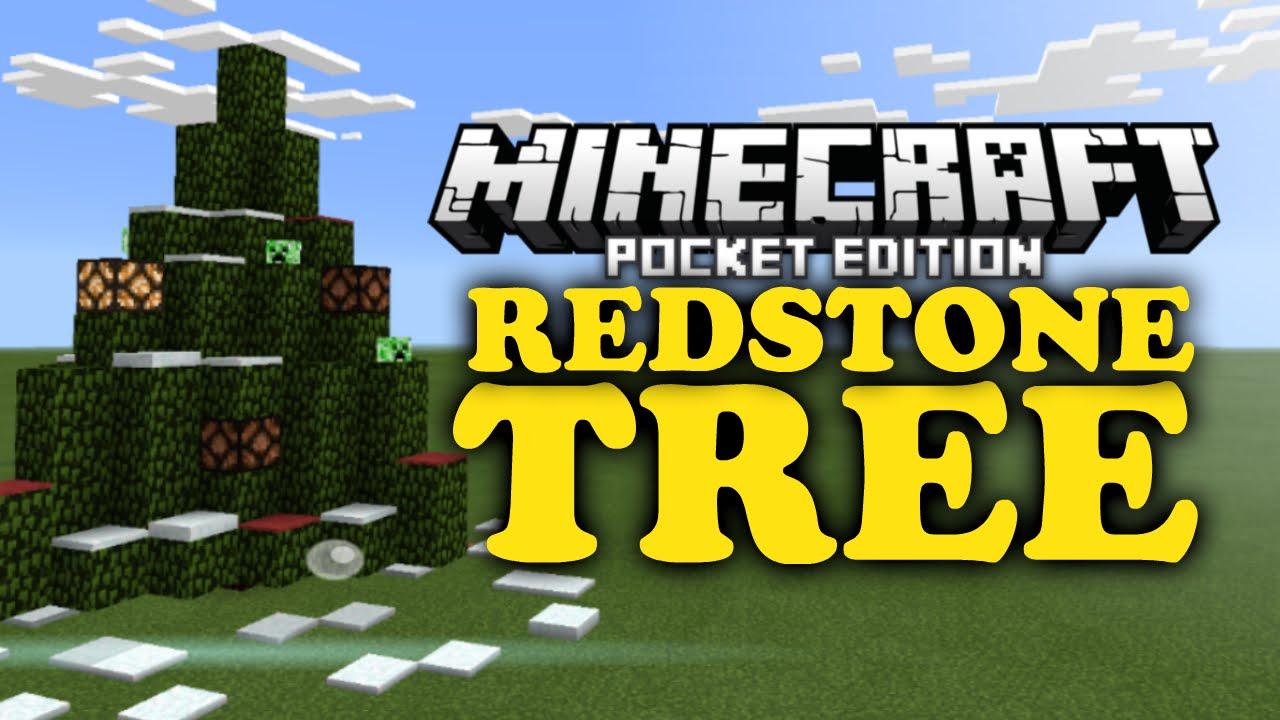 Christmas Tree | MCPE Redstone Tutorial - YouTube