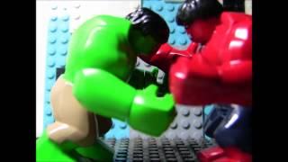 hulk   vs    red hulk   lego stop motion(헐크 vs 레드헐크)