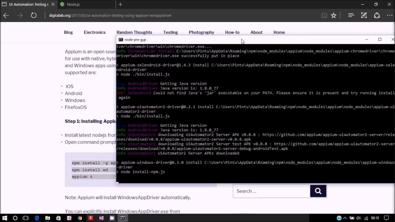 UI Automation using Appium and WinAppDriver - Digital Lab