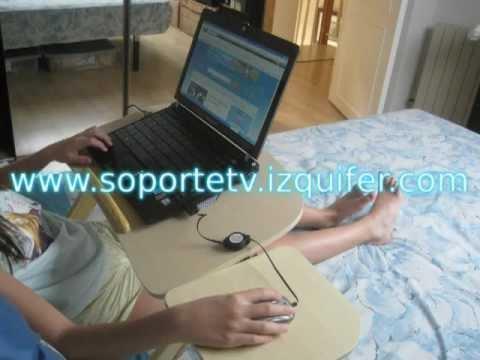 Mesa de cama para ordenador port til youtube - Como hacer una mesa de ordenador ...