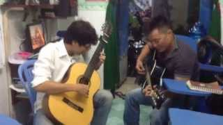 Học viên lớp Ms Mai đánh guitar và hát tặng sinh nhật cô Ms Mai 8/8 CS1