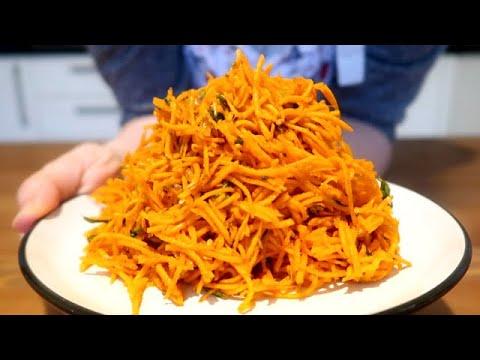 1€-=-1-recette-=-carotte-à-la-coréenne-/-salade-délicieuse-/-dîner-rapide-💪🔝-#21
