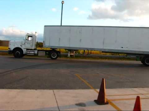 Big Rig Parallel Parking  blind side (Miami Lakes Educational Center)
