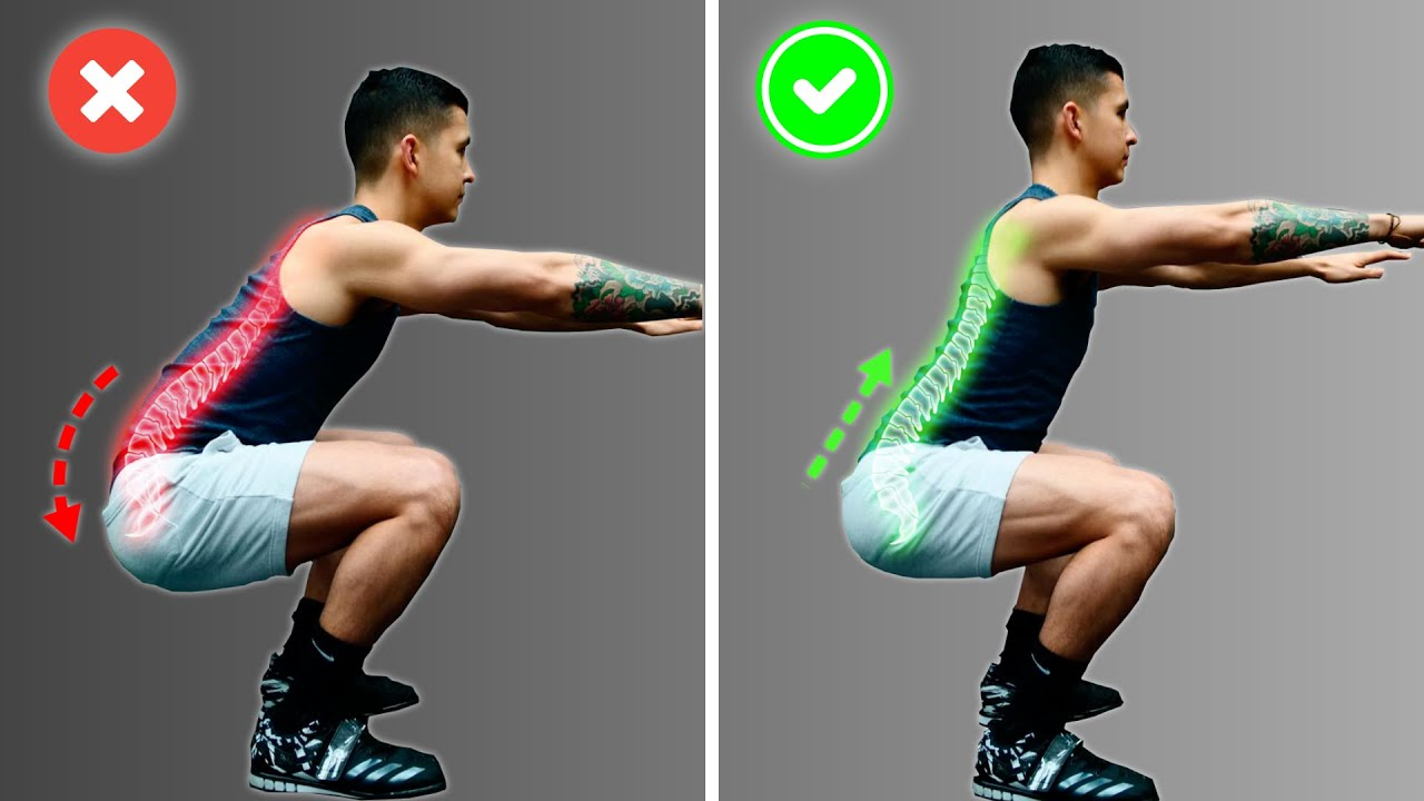 How To Squat Properly: 3 Mistakes Harming Your Lower Back (FIX THESE!) -  YouTube