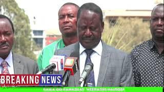 Raila speaks