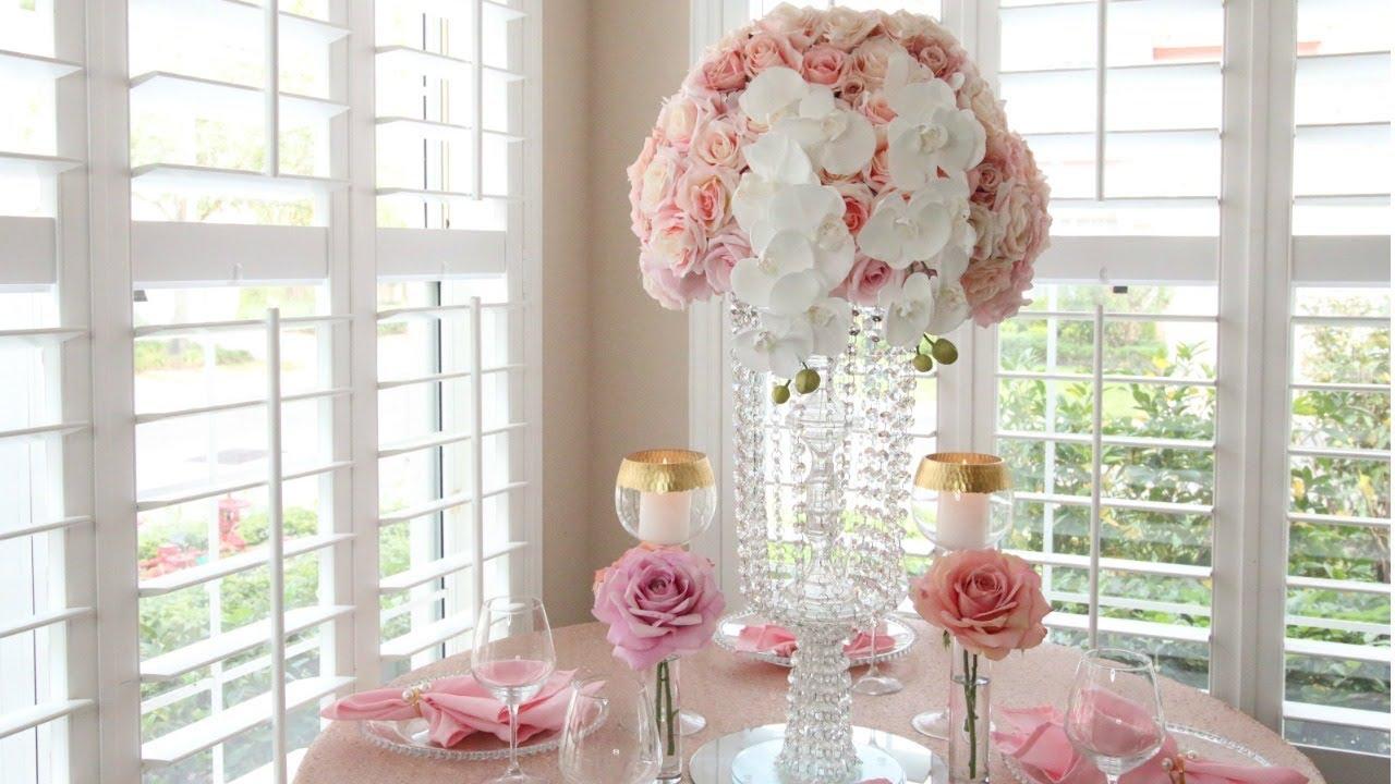 Diy Dollar Tree Crystal Garland Chandelier Wedding Centerpiece