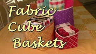 Fabric Storage Cubes/Baskets