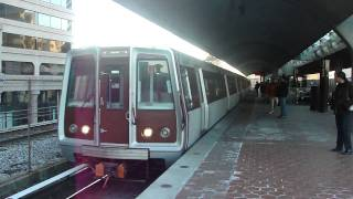 WMATA Metro Rail:  Rohrs/Rehab/CAF Train Cars on the Red Line Train at Silver Spring Station