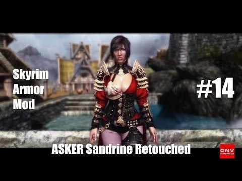 Skyrim | Armadura ASKER Sandrine Retouched Para CBBE BodySlide Número 14 [Review]
