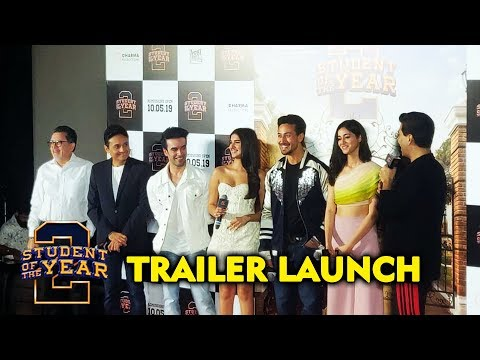 Student Of The Year 2 Trailer Launch   Tiger Shroff   Ananya Panday   Tara Sutaria