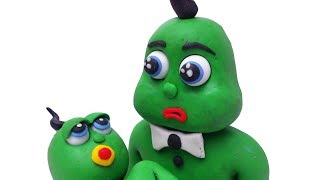 Yellow and Green Baby Do Babysitting Clay & Play Doh Stop Motion Cartoons For Kids
