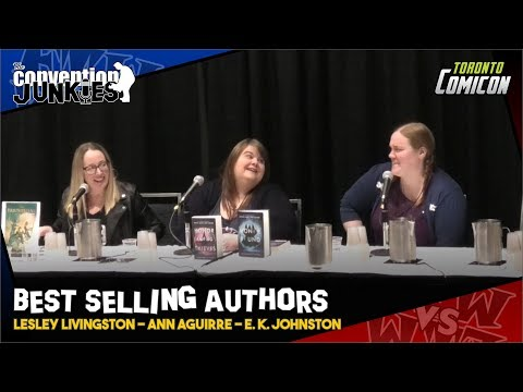 lesley-livingston,-ann-aguirre-&-e.-k.-johnston---best-selling-authors---toronto-comicon-2019