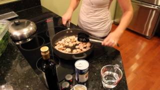 Healthy Cooking Demo - Chicken Sausage With White Beans