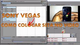 Tutorial SONY VEGAS, como colocar seta de indicação no vídeo.