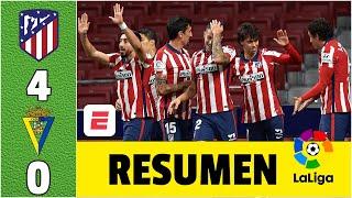 Atlético de Madrid 4-Cádiz. Joao Félix, Marcos Llorente y Luis Suárez ponen líder al Atléti | LaLiga