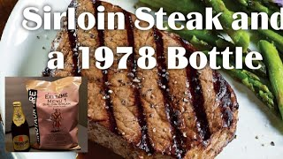 Sirloin Steak MRE and a 1978 Bottle 🔴 Oldsmokey Live Stream