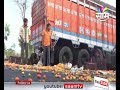 Maharashtra Farmers' strike :Vegetable filled crates thrown on streets in Yeola
