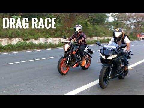 Yamaha R15 V3 VS Duke 200 | RACE | DRAG RACE | Highway Battle