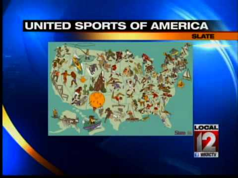 Official Sports Map for the United States