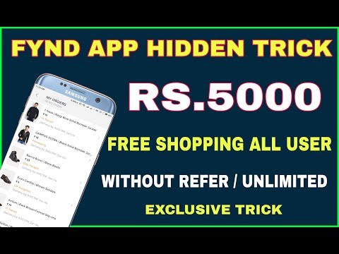 Fynd App Hidden Trick   Rs.5000 Free Shopping Per Day Without Refer   Exclusive Unlimited Trick
