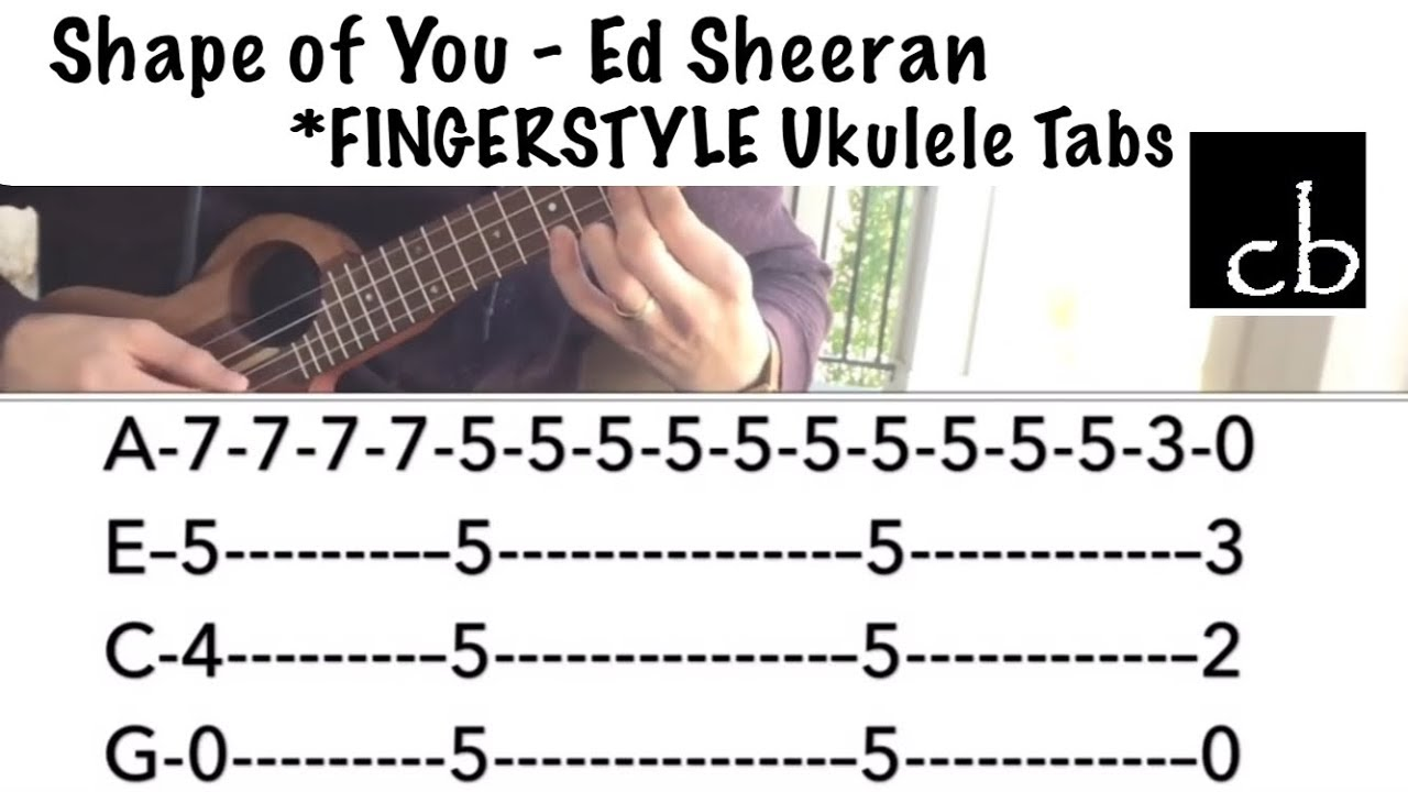 shape of you ed sheeran fingerstyle ukulele tutorial youtube. Black Bedroom Furniture Sets. Home Design Ideas