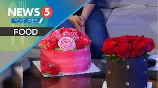Cake na may totoong flowers dito sa #Nwsrm5Live