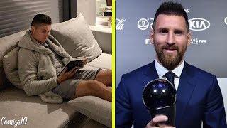 O que Cristiano Ronaldo estava fazendo ontem enquanto Messi estava sendo premiado?