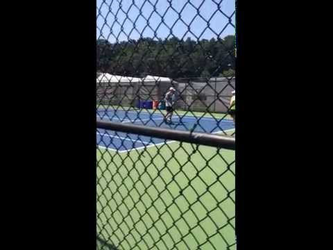 Andy Murray Practicing at the 2015 Citi Open