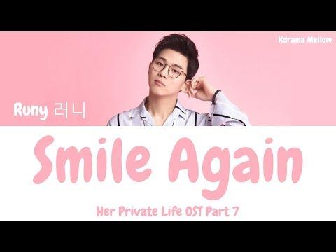 Runy (러니) - Smile Again (Her Private Life OST Part 7) Lyrics (Han/Rom/Eng/가사) mp3