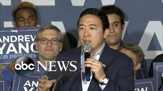 Andrew Yang thanks supporters after ending campaign