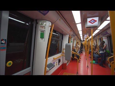 Spain, Madrid, Metro ride from Manuel Becerra to Nuevos Ministerios