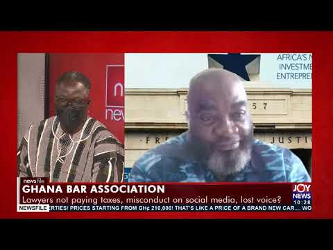 Ghana Bar Association: Lawyers not paying taxes, misconduct on social media - Newsfile (18-9-21)