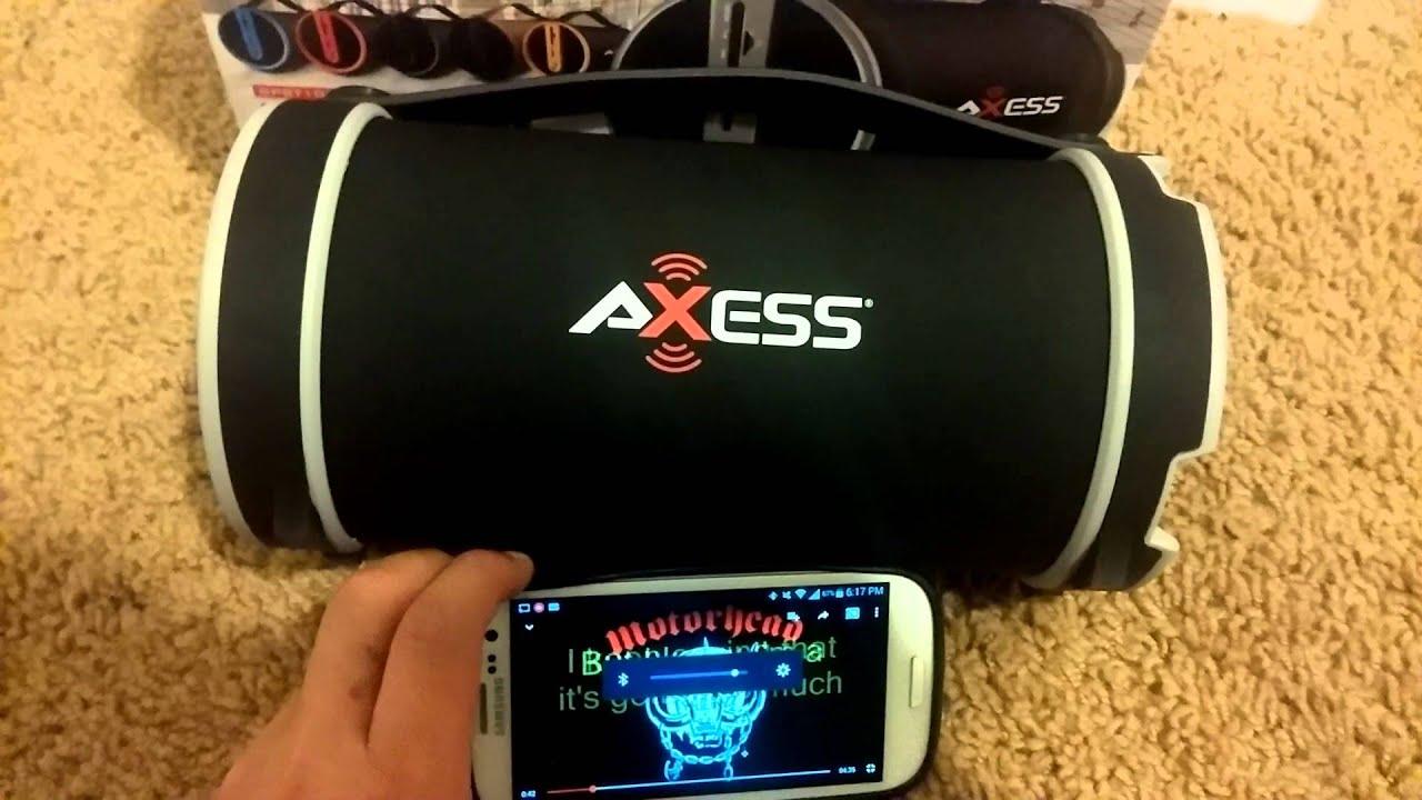 axess spbt1033 bluetooth speaker [ 1280 x 720 Pixel ]