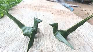 How To Make A Bird From Coconut Leaves? | Khmer Traditional | Cambodia
