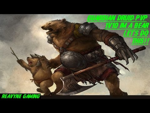 Guardian Druid PvP Legion!! 1v10 Im A Bear Lets Do Dis!!